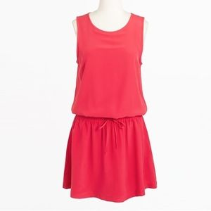 NWT J. Crew Factory 100%silk red dress